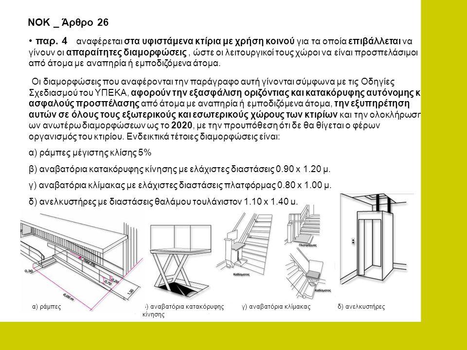 ΝΟΚ _ Άρθρο 26