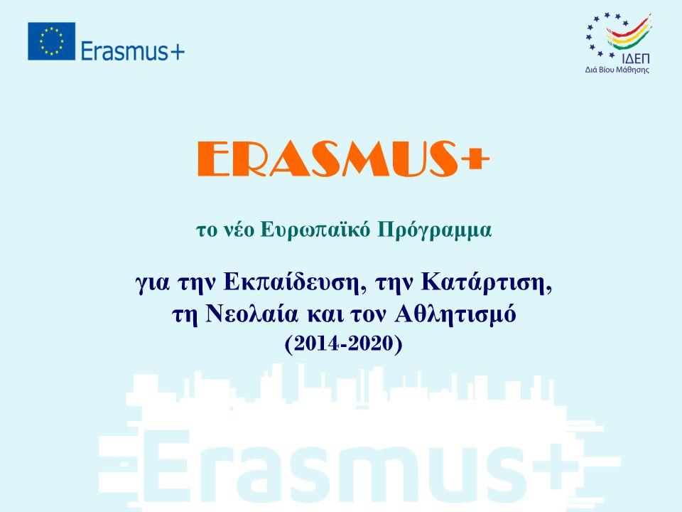 ERASMUS+ για την Εκπαίδευση, την Κατάρτιση,