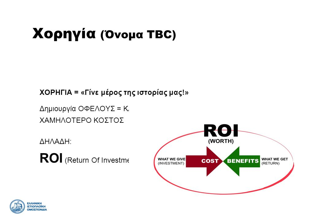 Χορηγία (Όνομα TBC) ROI (Return Of Investment)