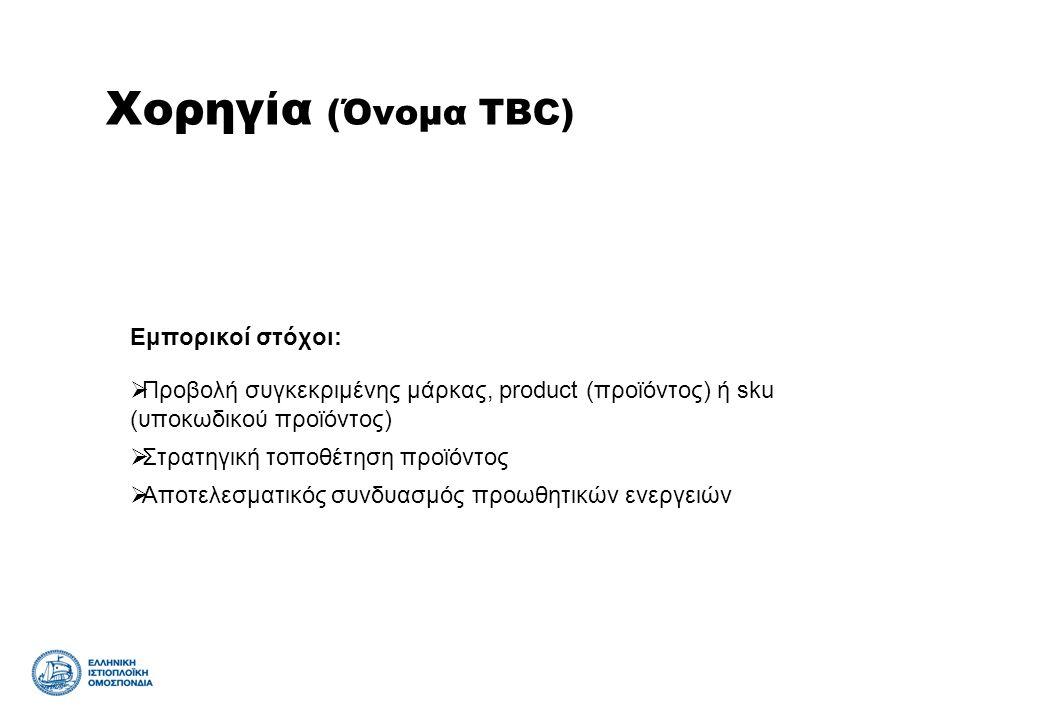 Χορηγία (Όνομα TBC) Εμπορικοί στόχοι: