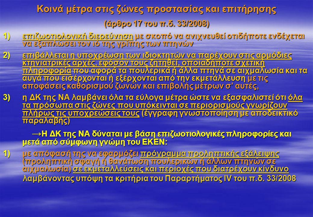 Κοινά μέτρα στις ζώνες προστασίας και επιτήρησης (άρθρο 17 του π. δ