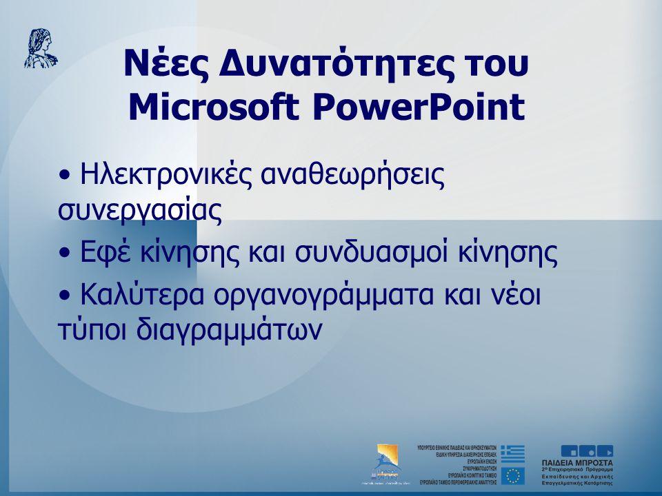 Νέες Δυνατότητες του Microsoft PowerPoint