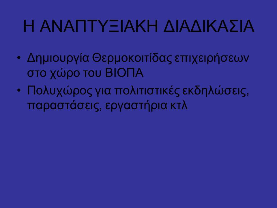Η ΑΝΑΠΤΥΞΙΑΚΗ ΔΙΑΔΙΚΑΣΙΑ