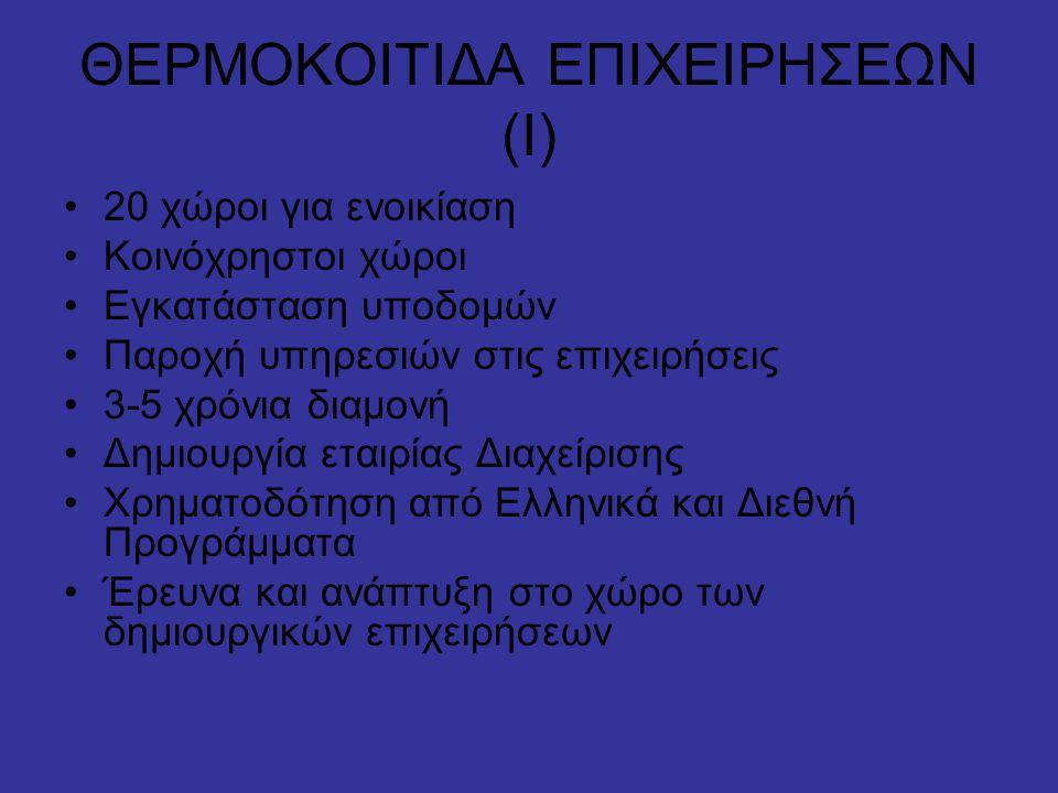 ΘΕΡΜΟΚΟΙΤΙΔΑ ΕΠΙΧΕΙΡΗΣΕΩΝ (Ι)