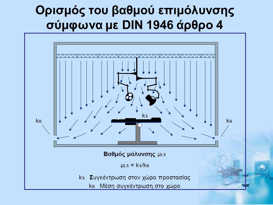 Ορισμός του βαθμού επιμόλυνσης σύμφωνα με DIN 1946 άρθρο 4