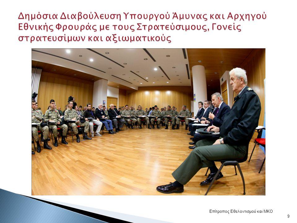 Δημόσια Διαβούλευση Υπουργού Άμυνας και Αρχηγού Εθνικής Φρουράς με τους Στρατεύσιμους, Γονείς στρατευσίμων και αξιωματικούς