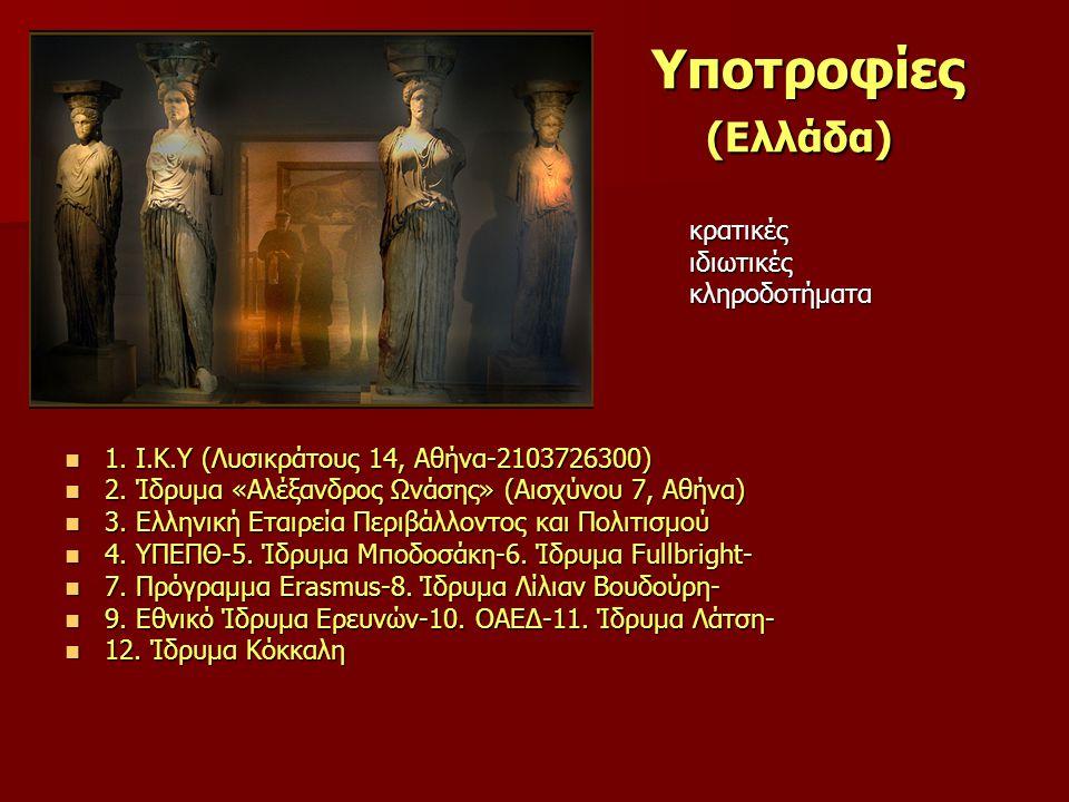 Υποτροφίες (Ελλάδα) ιδιωτικές κληροδοτήματα