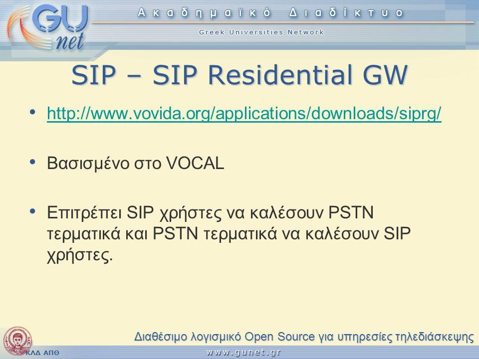 SIP – SIP Residential GW