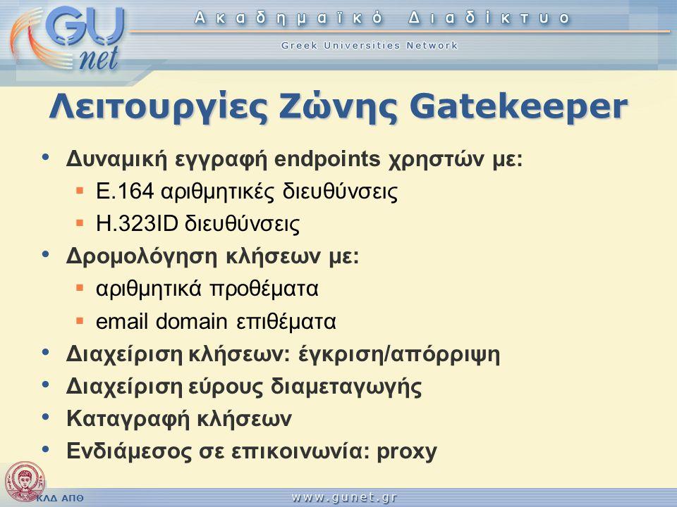 Λειτουργίες Ζώνης Gatekeeper