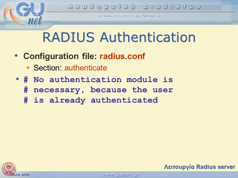 RADIUS Authentication