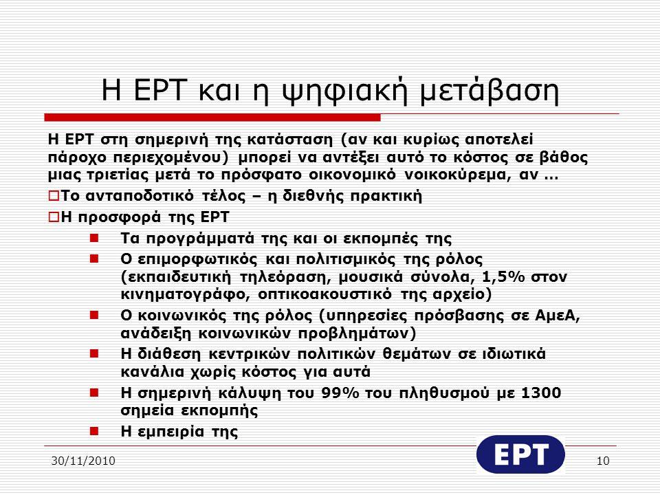 Η ΕΡΤ και η ψηφιακή μετάβαση