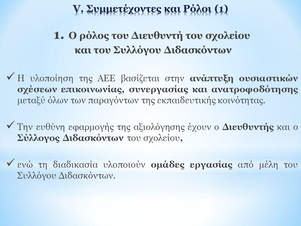 V. Συμμετέχοντες και Ρόλοι (1)