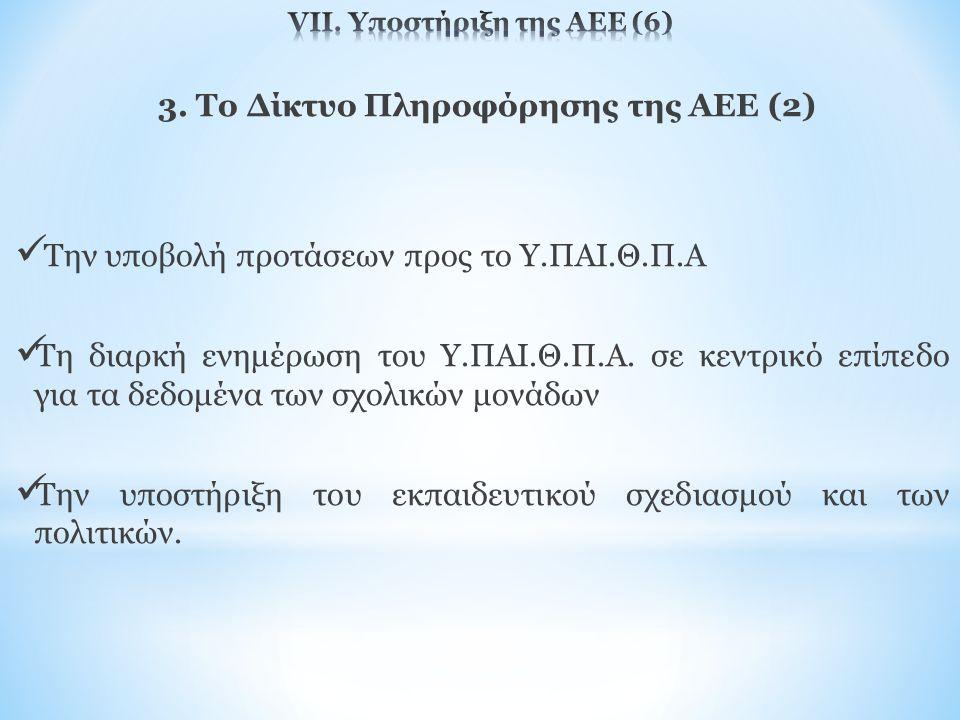 VΙΙ. Υποστήριξη της ΑΕΕ (6)