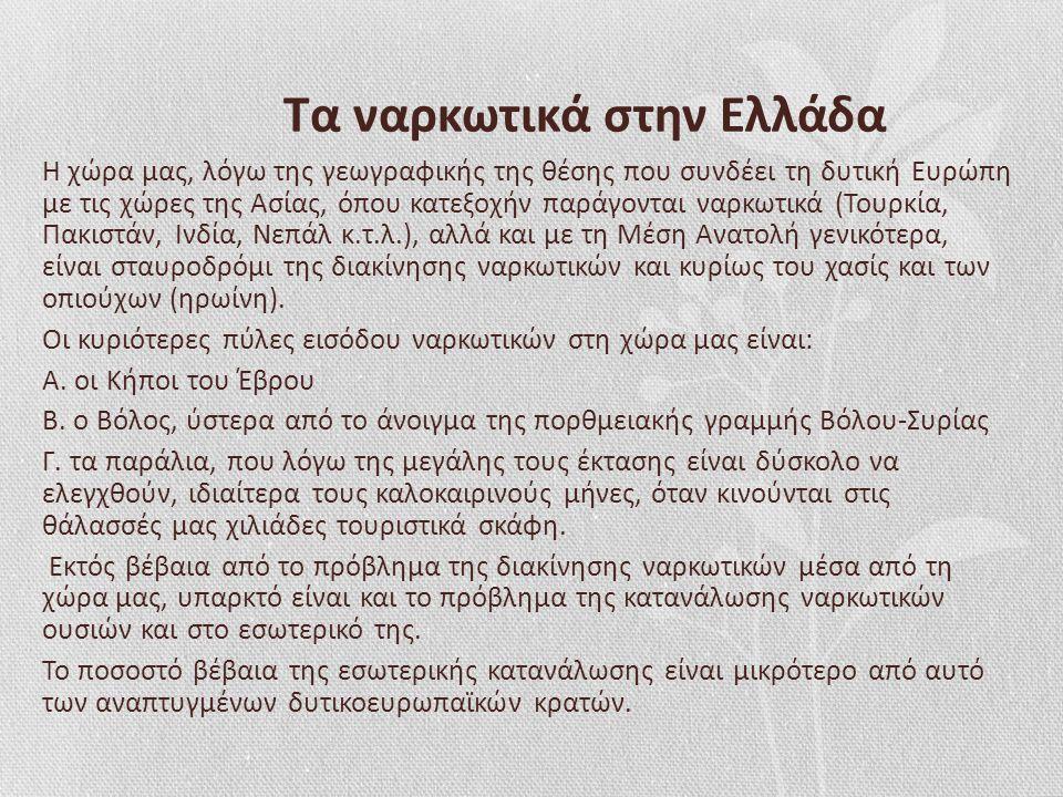 Τα ναρκωτικά στην Ελλάδα