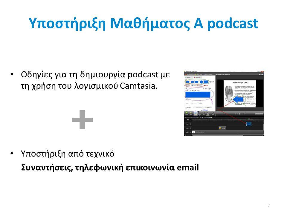 Υποστήριξη Μαθήματος Α podcast