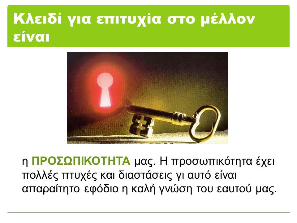 Κλειδί για επιτυχία στο μέλλον είναι