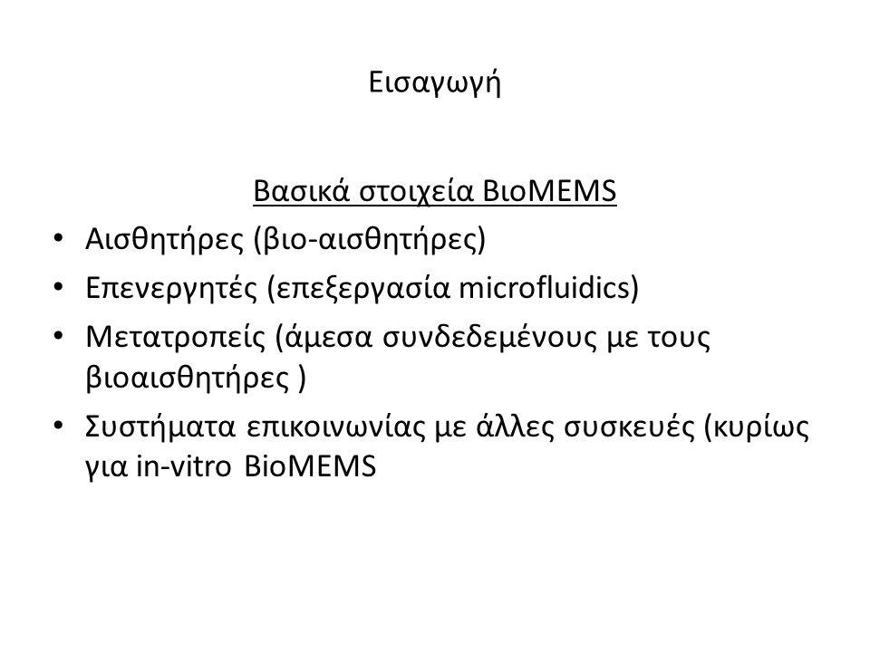 Βασικά στοιχεία ΒιοMEMS