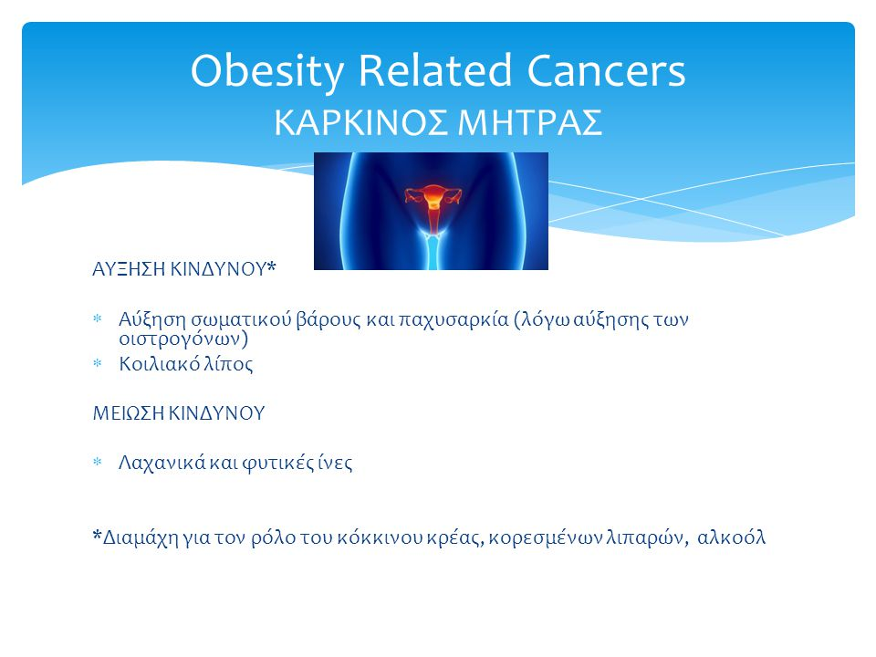 Obesity Related Cancers ΚΑΡΚΙΝΟΣ ΜΗΤΡΑΣ