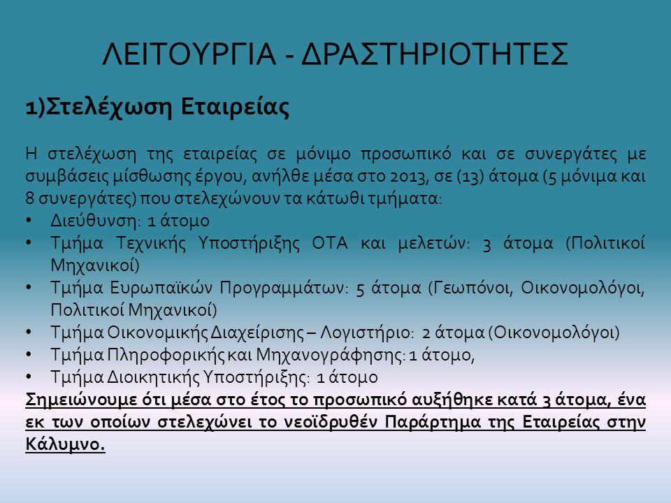 ΛΕΙΤΟΥΡΓΙΑ - ΔΡΑΣΤΗΡΙΟΤΗΤΕΣ