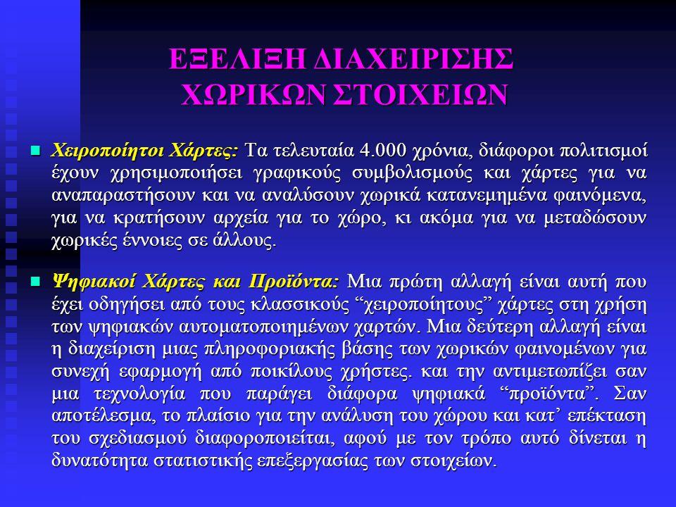 ΕΞΕΛΙΞΗ ΔΙΑΧΕΙΡΙΣΗΣ ΧΩΡΙΚΩΝ ΣΤΟΙΧΕΙΩΝ