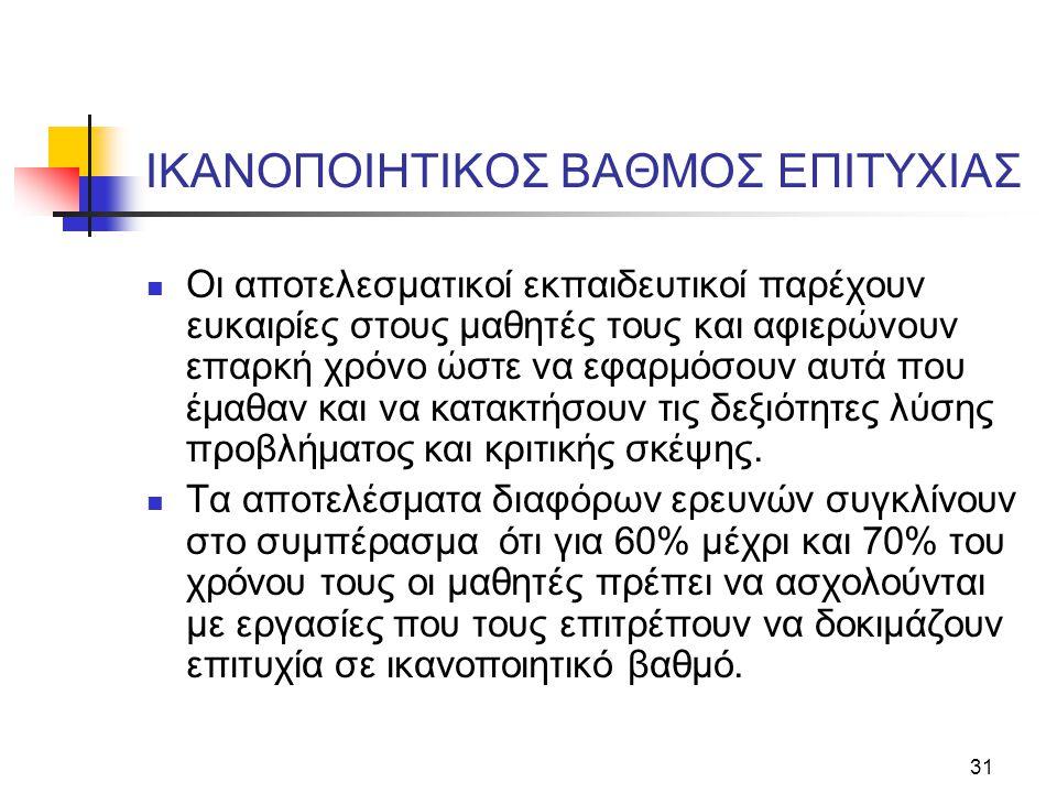 IKANOΠOIHTIKOΣ BAΘMOΣ EΠITYXIAΣ