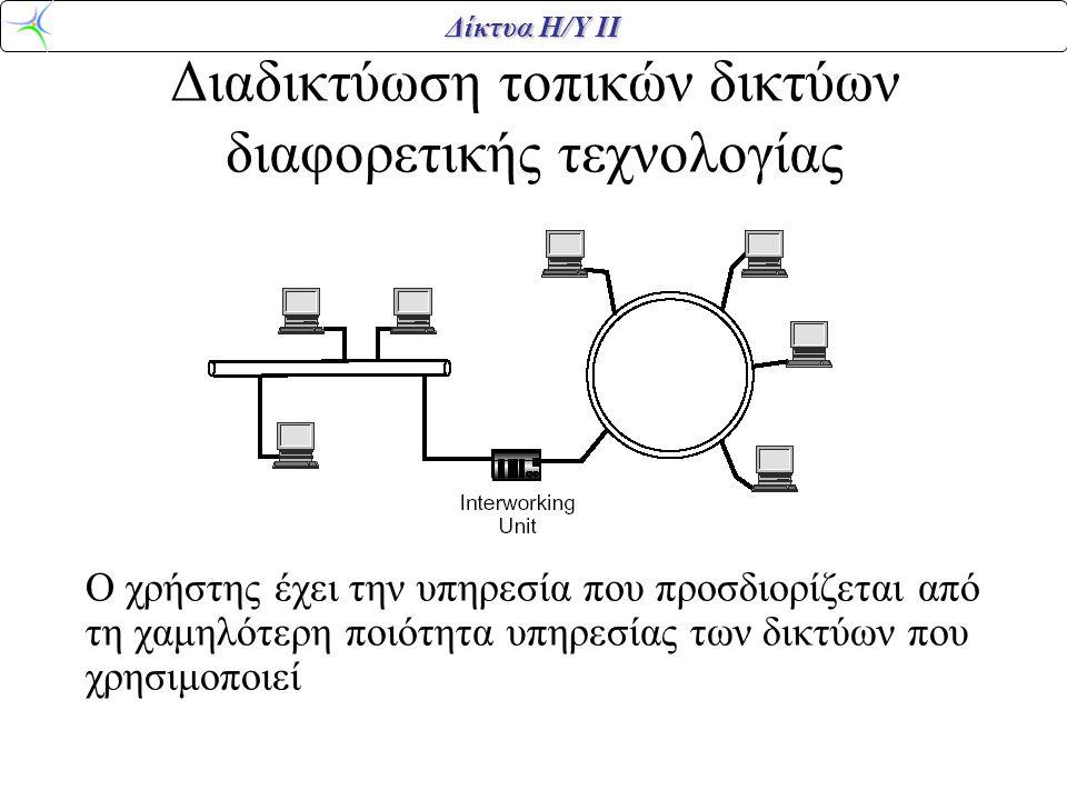 Διαδικτύωση τοπικών δικτύων διαφορετικής τεχνολογίας