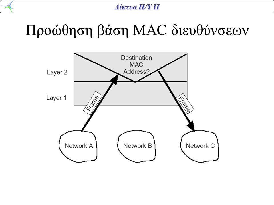 Προώθηση βάση MAC διευθύνσεων