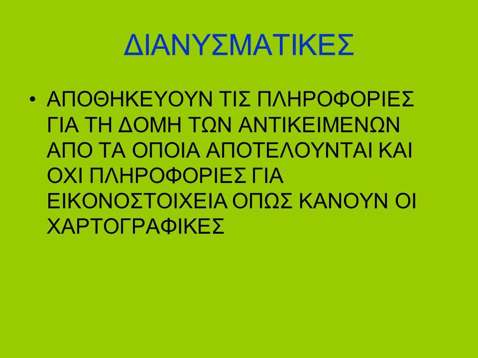 ΔΙΑΝΥΣΜΑΤΙΚΕΣ