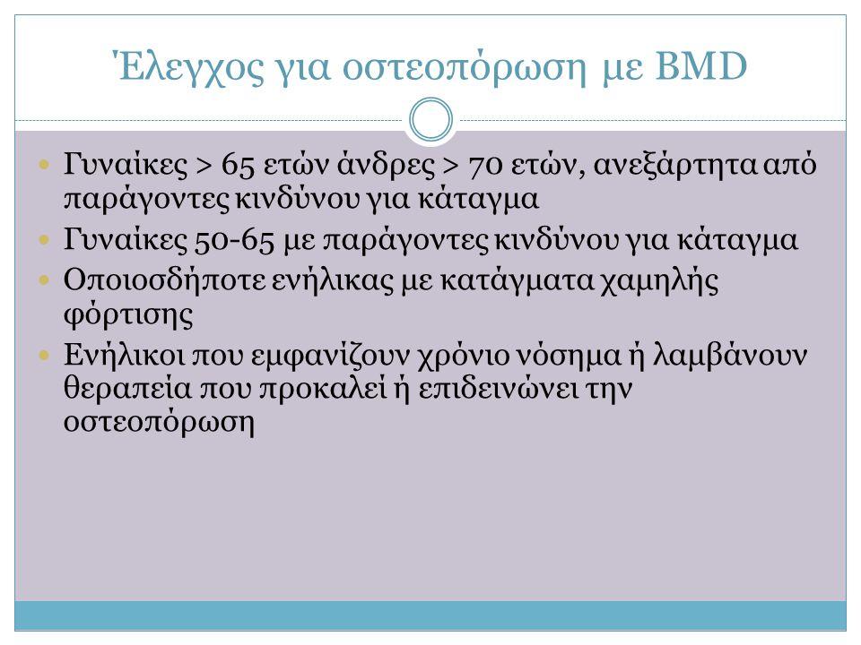 Έλεγχος για οστεοπόρωση με ΒΜD