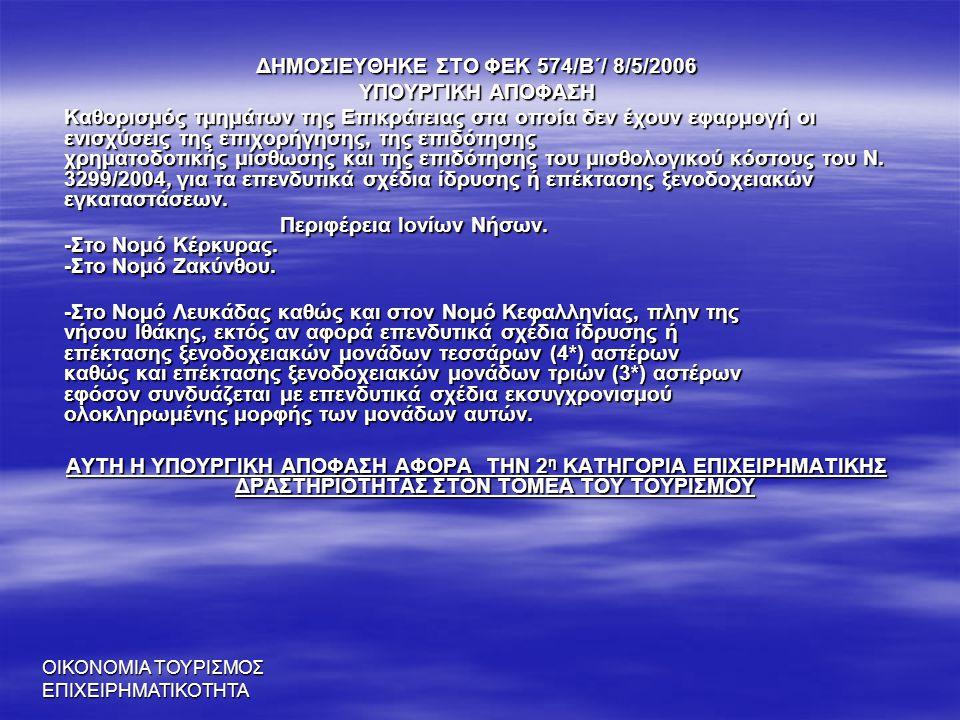 ΔΗΜΟΣΙΕΥΘΗΚΕ ΣΤΟ ΦΕΚ 574/Β΄/ 8/5/2006