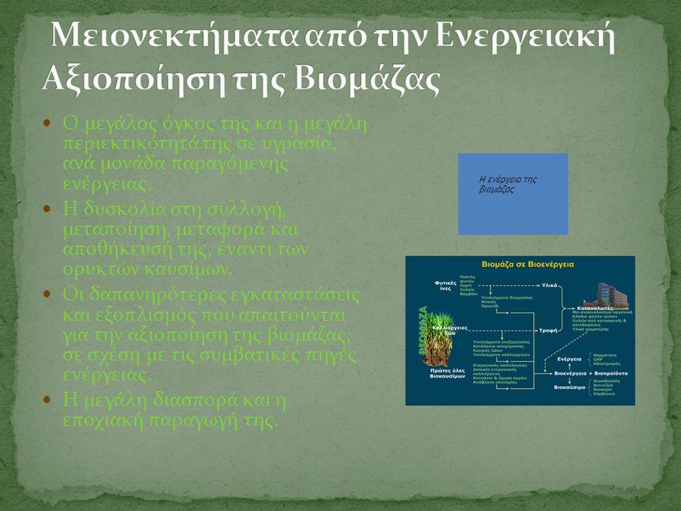 Μειονεκτήματα από την Ενεργειακή Αξιοποίηση της Βιομάζας