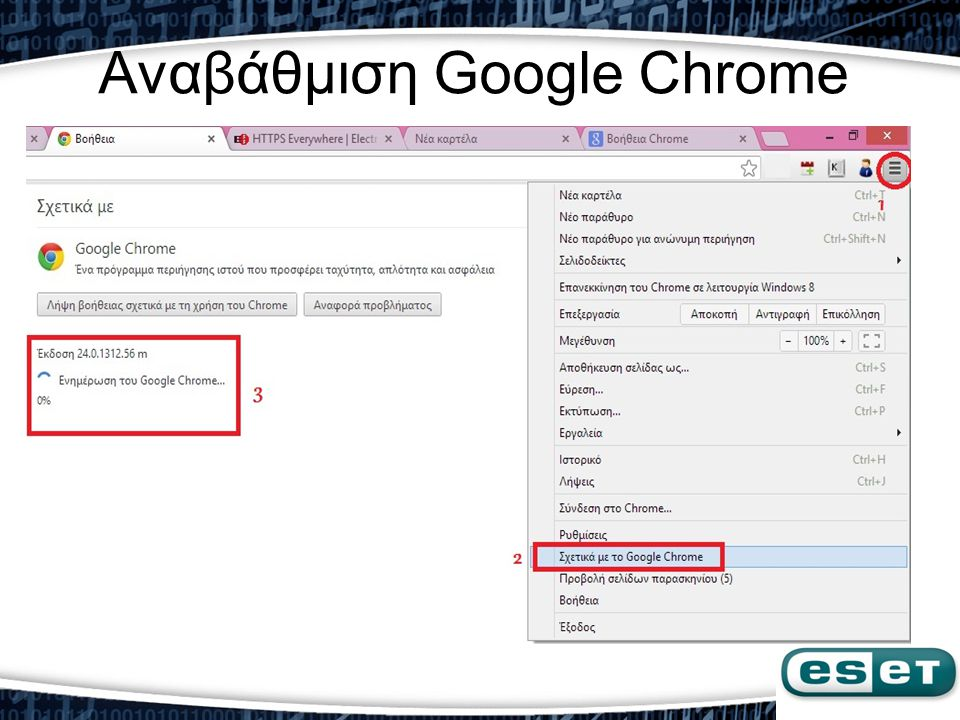 Αναβάθμιση Google Chrome