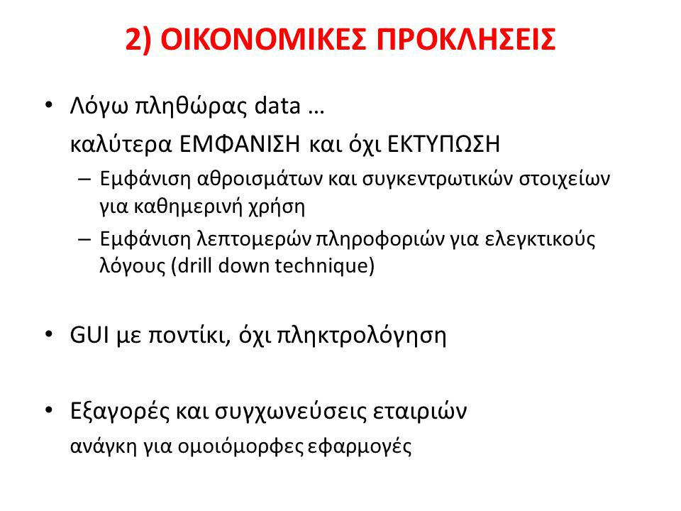 2) ΟΙΚΟΝΟΜΙΚΕΣ ΠΡΟΚΛΗΣΕΙΣ