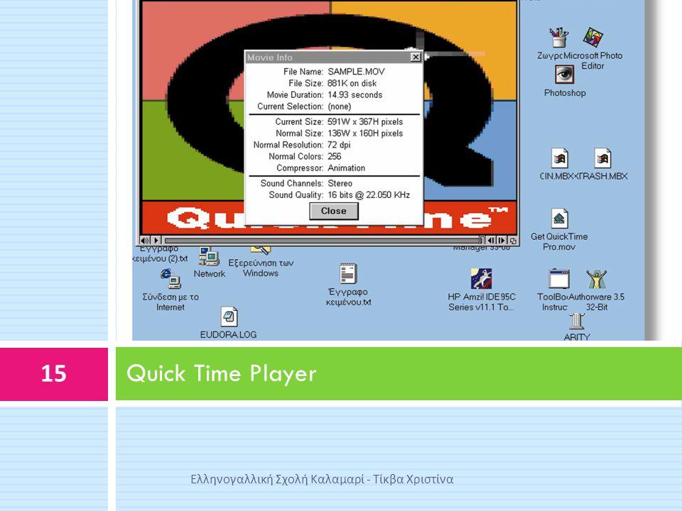 Quick Time Player Ελληνογαλλική Σχολή Καλαμαρί - Τίκβα Χριστίνα