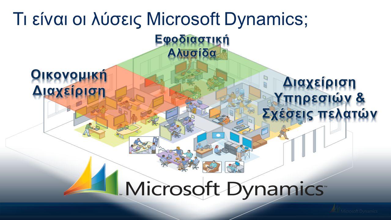Τι είναι οι λύσεις Microsoft Dynamics;