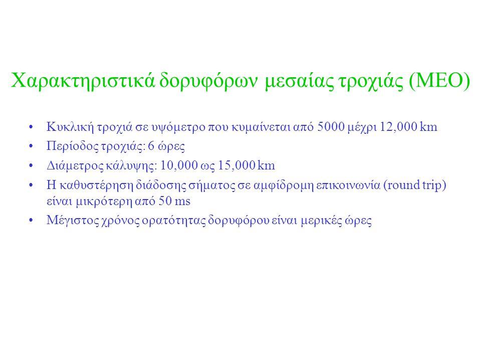 Χαρακτηριστικά δορυφόρων μεσαίας τροχιάς (MEO)