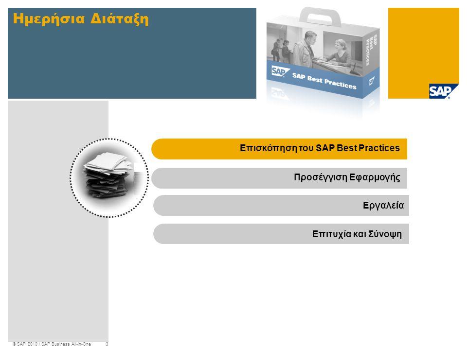 Ημερήσια Διάταξη Επισκόπηση του SAP Best Practices