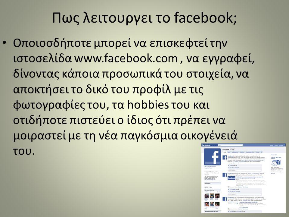 Πως λειτουργει το facebook;