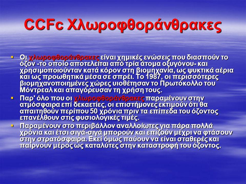 CCFc Χλωροφθοράνθρακες