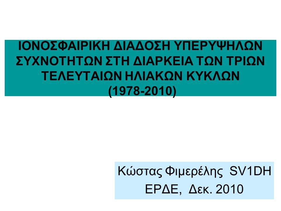Κώστας Φιμερέλης SV1DH ΕΡΔΕ, Δεκ. 2010