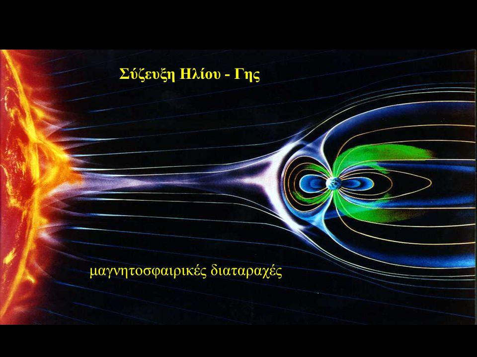 Σύζευξη Ηλίου - Γης μαγνητοσφαιρικές διαταραχές