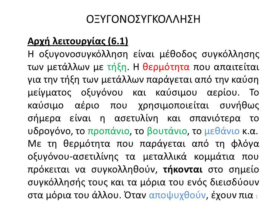 ΟΞΥΓΟΝΟΣΥΓΚΟΛΛΗΣΗ Αρχή λειτουργίας (6.1)