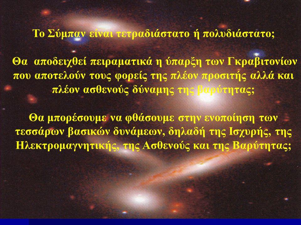 Το Σύμπαν είναι τετραδιάστατο ή πολυδιάστατο;