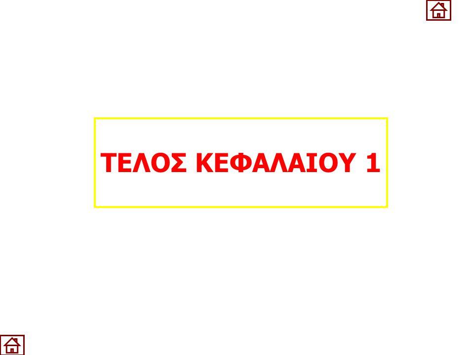 ΤΕΛΟΣ ΚΕΦΑΛΑΙΟΥ 1