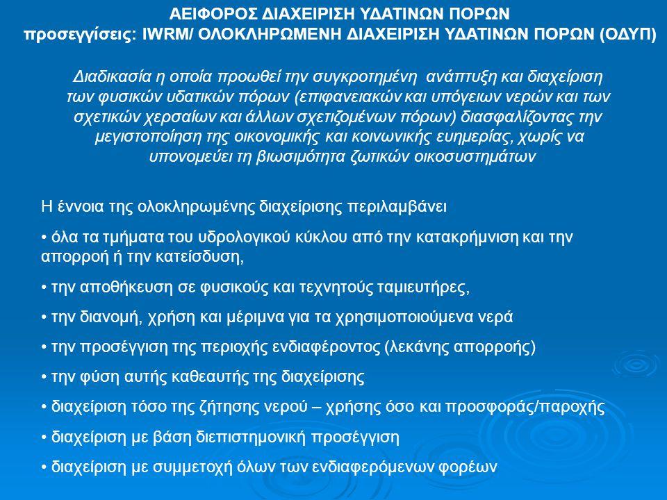 ΑΕΙΦΟΡΟΣ ΔΙΑΧΕΙΡΙΣΗ ΥΔΑΤΙΝΩΝ ΠΟΡΩΝ