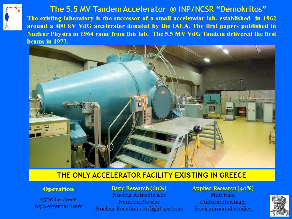 The 5.5 MV Tandem Accelerator @ INP/NCSR Demokritos