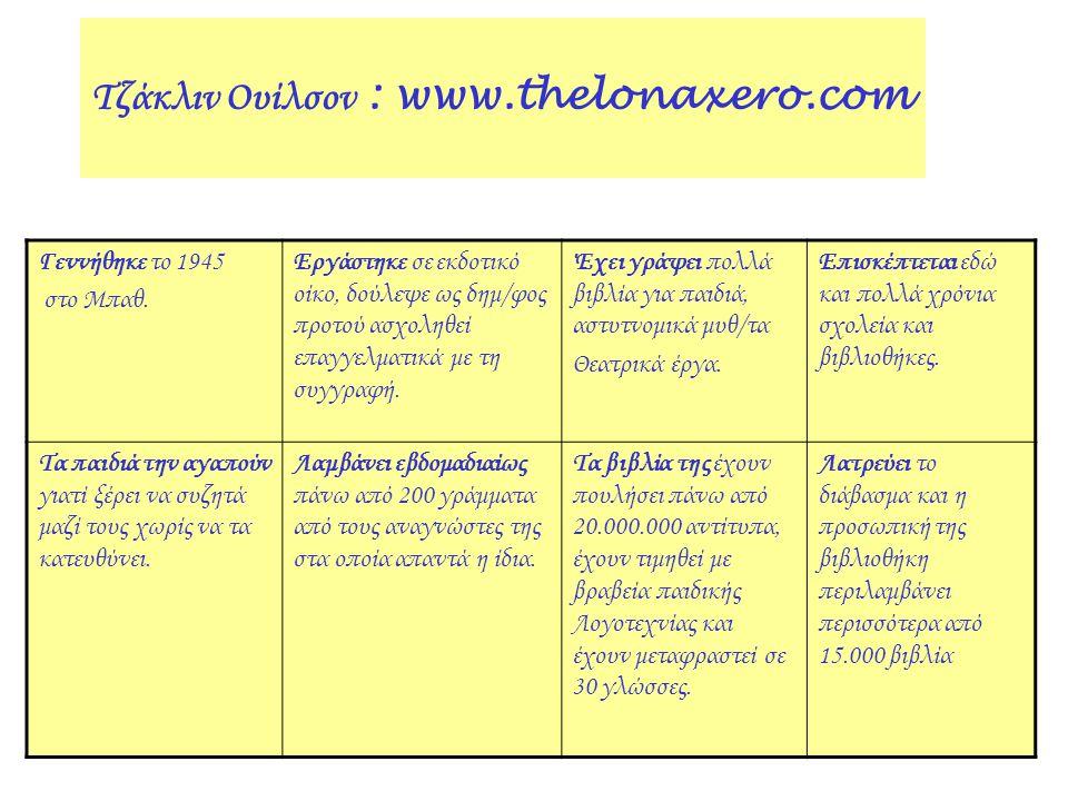 Τζάκλιν Ουίλσον : www.thelonaxero.com