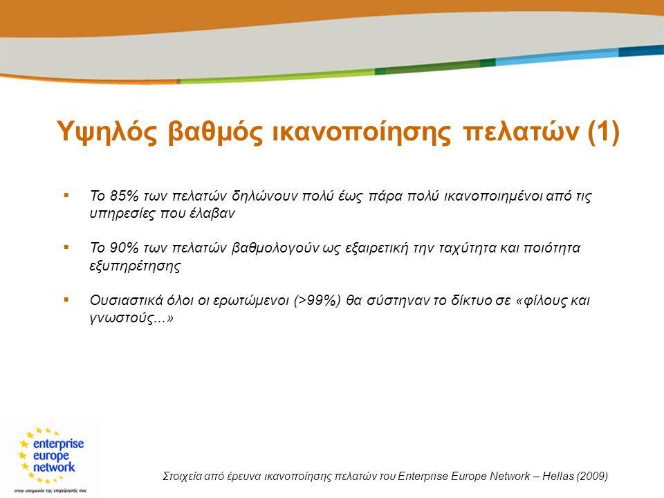 Υψηλός βαθμός ικανοποίησης πελατών (1)