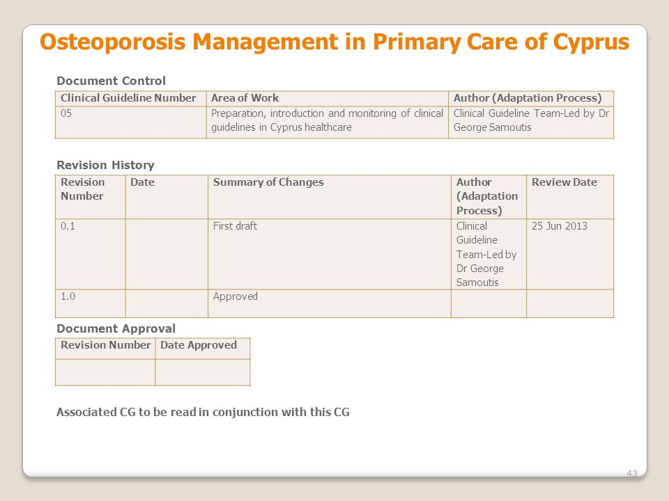 Osteoporosis Management in Primary Care of Cyprus