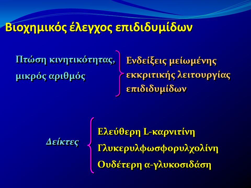 Βιοχημικός έλεγχος επιδιδυμίδων